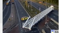 A 135-foot bridge is the longest load ever to go through the Dartford Tunnel