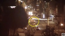 Police release footage of cars 'used to transport bomb'