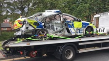 Police officer in hospital with serious injuries after crash in Birmingham