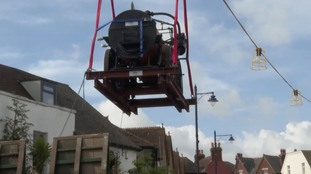 Historic steam engine makes long-awaited return to Whitstable