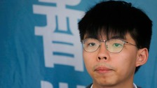 Freed student activist Joshua Wong joins Hong Kong protesters