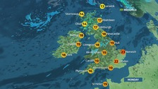 Risk of hail and thunder in NI and Scotland and dry in south-east