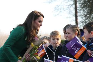 Kate said hospices are a 'heart-warming example to us all'.