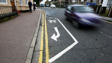 A cycle lane