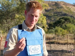 Prince Harry hailed the important work to clear landmines in Angola.