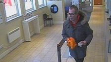 Man jailed for robbing bank... with a banana