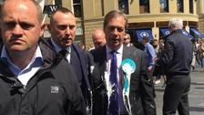 The incident took place during a campaign walkabout in Newcastle
