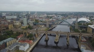 Tyneside from the sky