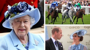 The Queen was at Royal Ascot with other members of the royal family.