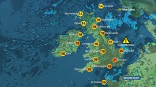 Scattered thunderstorms on a mixed day for the UK