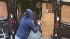 Police release CCTV of violent van robbery in Scunthorpe