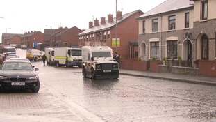 A suspicious object was found in a front garden, police said.