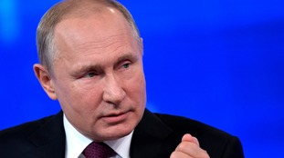 Vladimir Putin has warned the US against military action.