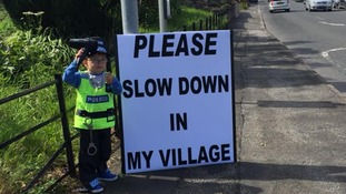 'Please slow down in my village': Three-year-old's plea to speeding drivers
