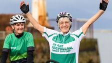 Galloway grandmother completes record-breaking bike ride