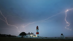 Lightning in South Shields.