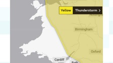 Severe weather warning issued for heavy rain and thunderstorms