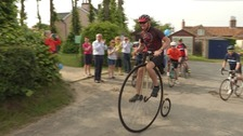 Suffolk man with dementia cycles 300 miles on penny farthing