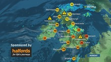 Warm and humid, with a risk of thundery showers