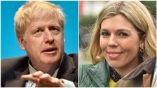 Conservative party leadership candidate Boris Johnson and his partner Carrie Symonds.