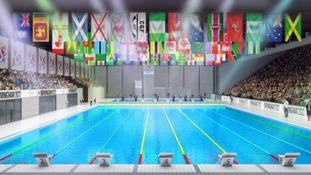 A £60m aquatics centre is planned for the 2022 Games.