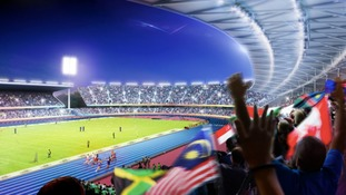 The new designs for the Alexander Stadium in Birmingham.