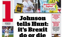 Johnson throwing down Brexit gauntlet leads most papers