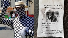 What's yours is mime: Mystery man 'cons' carnival-goers