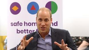The Duke of Cambridge speaks to former and current service users during a visit to the Albert Kennedy Trust.