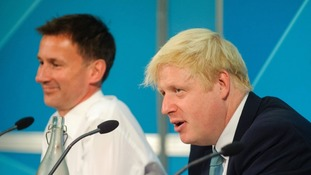 Boris Johnson and Jeremy Hunt are vying for the Tory crown.