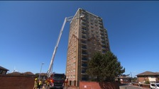 Irlam House in Bootle, where the fire service training exercise will take place.