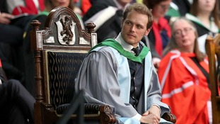 Kirkcudbright actor Sam Heughan receives second honorary degree in a week