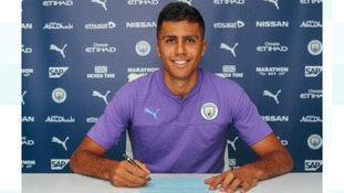 Manchester City sign Spain midfielder Rodri on a five-year deal
