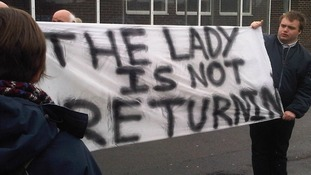Thatcher protests
