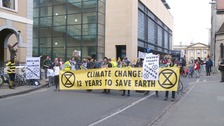 A previous Extinction Rebellion protest.