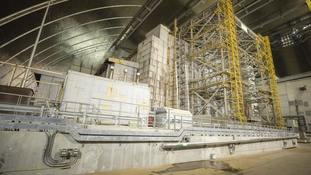 'Largest moveable land-based structure' unveiled to confine Chernobyl debris