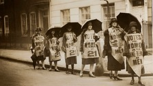women protest for equal rights