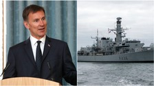 Conservative Party leadership candidate Jeremy Hunt wants to boost funding to the Royal Navy.
