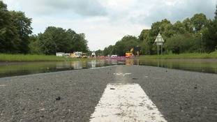 The burst water main at Mereway has caused significant flooding