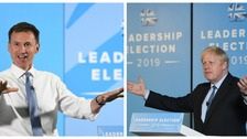Jeremy Hunt and Boris Johnson on the campaign trail