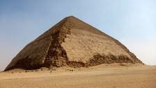 The Bent Pyramid, now open to tourists once again.