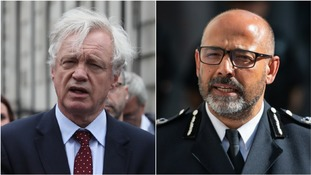 MP David Davis and Metropolitan Police Assistant Commissioner Neil Basu