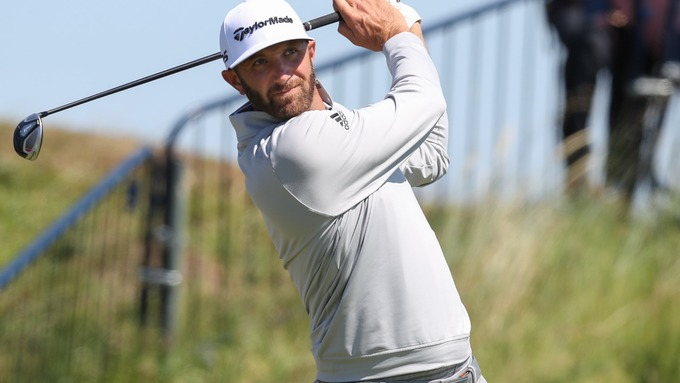 Dustin Johnson at the Open