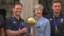 England heroes arrive at Downing Street for World Cup celebrations