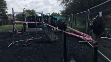 Children's play area damaged in suspected arson attack
