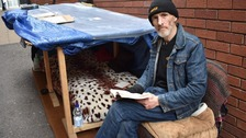 Homeless man fined £60 by council for 'begging' given job following backlash