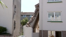 Wall collapses onto Andium Homes flats