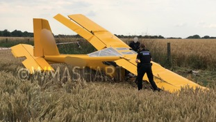 Plane crashed in field