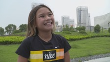 Olympic hopeful, 11, looking to skate her way to Toyko 2020