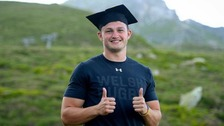 Rugby star thrown special graduation ceremony by Wales teammates